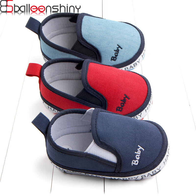 BalleenShiny Newborn Baby Soild Color Shoes For Boys Girls Toddler Infant Soft Casual Crib Shoes Prewalker Shoes Spring Autumn