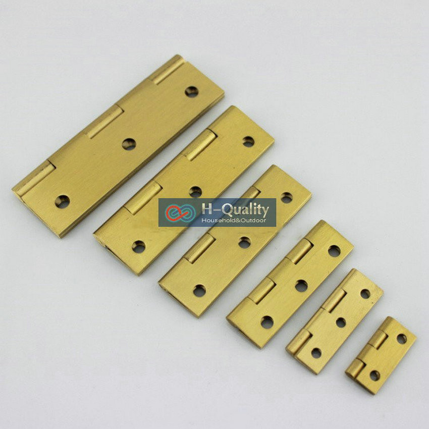 Free Brass Screw 10PC/Lot Beatiful Wire Drawing Surface 3.5 Inch (90MM) Length Solid Fresh Brass Hinge, Antique Brass Door Hinge