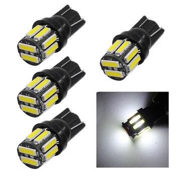 4 Uds estilo coche bombilla LED de coche T10 194 W5W 7020 10SMD Luz de Auto liquidación lámpara de techo de lectura matrícula blanca 6000K