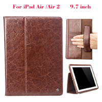 Real Genuine Leather Case For IPad Air Air2 9 7 Inch Classical Wallet Case Cover Shell
