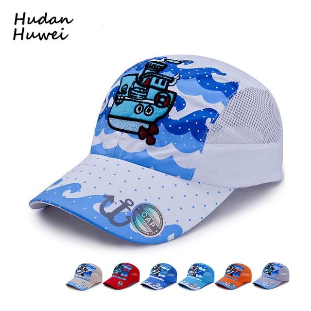 Historieta del verano vapor bordado niños malla del casquillo de secado  rápido gorras de béisbol para cbe1b01c13b
