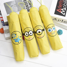 Creative cartoon mini yellow spongebob umbrella with sunshade and folding