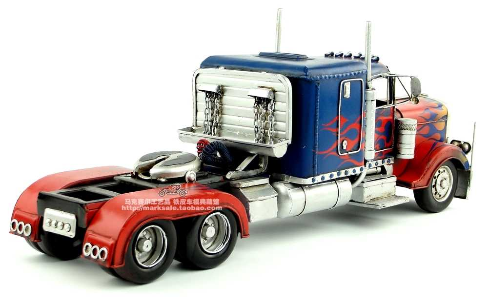 truck Antique classical model retro wrought handmade metal crafts for home  decoration or birthday gift money b