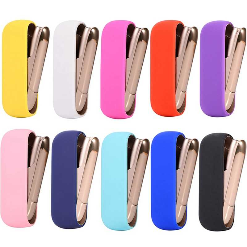 Soft Candy Color Silicone Cover Case Cigarette Accessories Carrying Protective Non-slip Case For Iqos 3.0