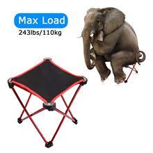 Mini cadeiras dobráveis portáteis de liga de alumínio, ultraleve, banheiro para acampamento ao ar livre, mochilão, caminhada, churrasco, piquenique, viajar viajar