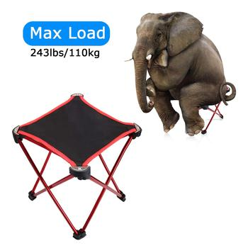 Strong Aluminum Alloy Mini Portable Folding Chairs Ultralight Outdoor Camping Stool for Backpacking,Hiking,BBQ,Picnic,Travel - discount item  6% OFF Outdoor Furniture