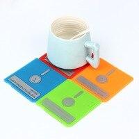6 шт./компл. Ретро гибкого диска силиконовые подставки для напитков домашнего Настольный коврик Творческий Декор Кофе напиток столовых для