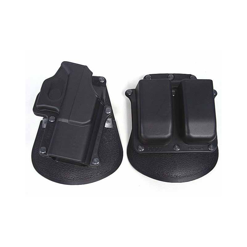 Tactical Gun Case Airsoft Holster&Mag Pouch Set For Glock 19/23/25/28/32 - Right Handed Black Glock Holster And Magazine Pouch