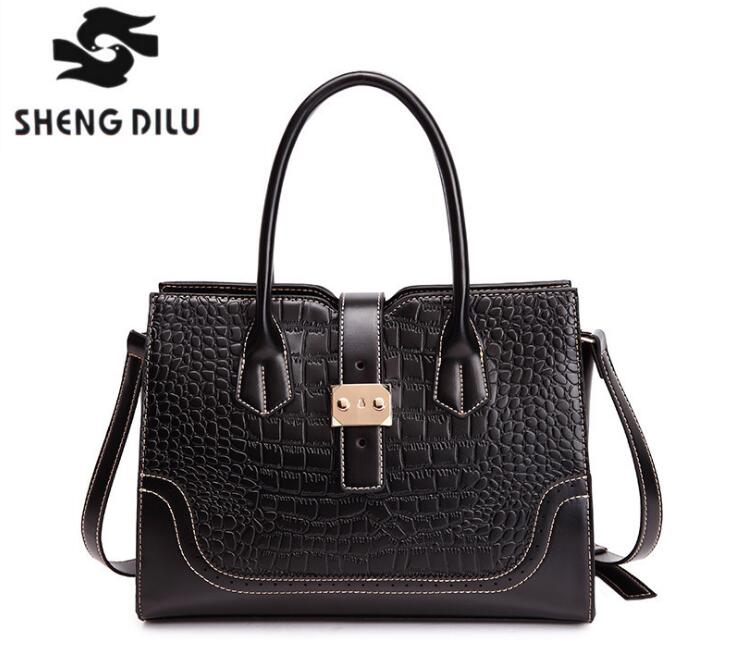 Shengdilu New Arrival Genuine Leather Handbag Ladies Cow Leather Shoulder Bags Women Real Leather Bags Female Multi Messenger цена и фото