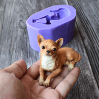 New Arrival Chihuahua Dog Silicone Mold 3D Fondant Cake Decorating Tools Chocolate Cupcake Mould Kitchen Accessories SQ18108