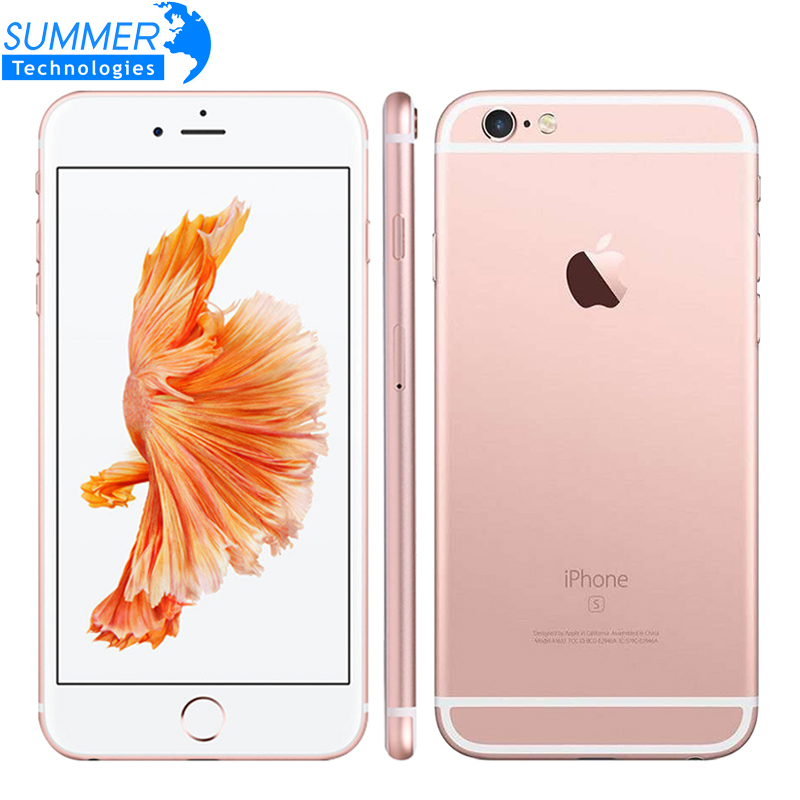 Apple original iphone 6 s/6 s plus celular ios duplo núcleo 2 gb ram 16/64/128 gb rom 12.0mp impressão digital 4g lte smartphone