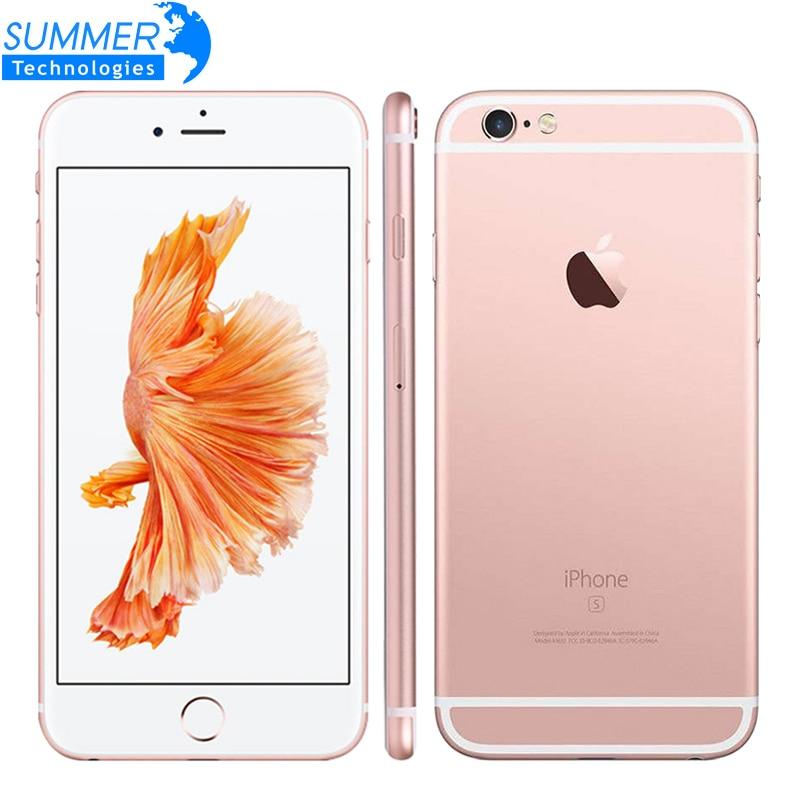Apple original iphone 6 s/6 s plus celular ios duplo núcleo 2 gb ram 16/64/128 gb rom 12.0mp impressão digital 4g lte smartphone