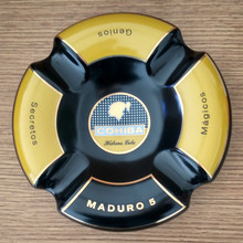 Wholesale Price! COHIBA High-definition fashion 4 Holder China Large Size Round Cigar Ashtray