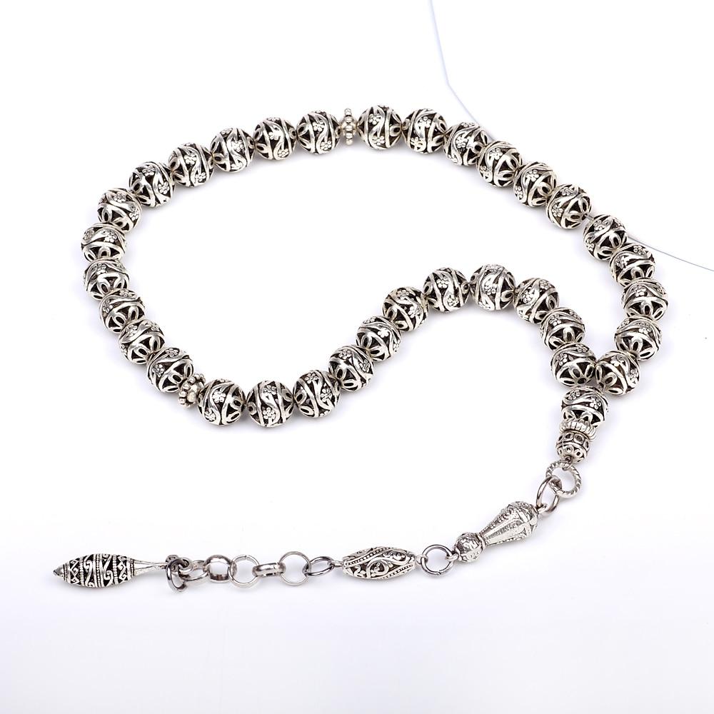 Yeni varış DIY 1 parça lüks 11mm gümüş yuvarlak hollow - Kostüm mücevherat - Fotoğraf 3
