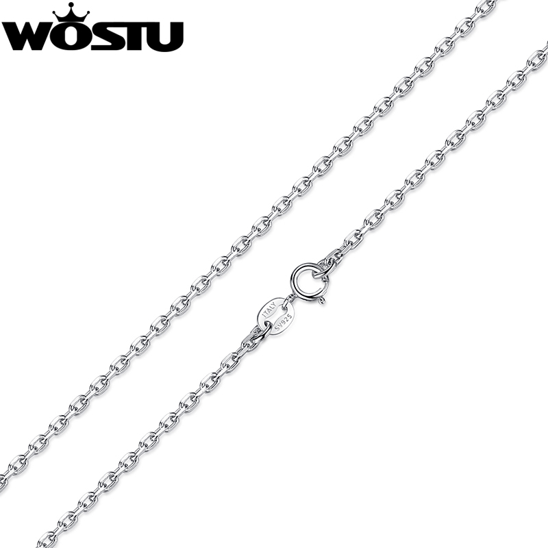 High Quality 925 Sterling Silver Chains Necklaces Fit For Pendant Charm For Women Men Luxury S925 Jewelry Gift CQA007 цена 2017