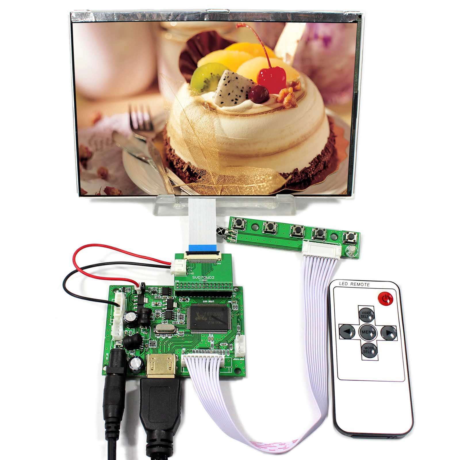 HSD070PWW1-C00 7inch IPS LCD Screen 1280x800 690nit HDMI Board For Raspberry Pi c4265 69001 for hp laserjet 8150 formatter board printer parts