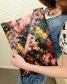 Bolso del verano 2017 de la Nueva Llegada Mujeres Embragues Flor Pintura Remaches Bolsa de Hombro Bolso de Moda Bolsos de Mano de Cuero