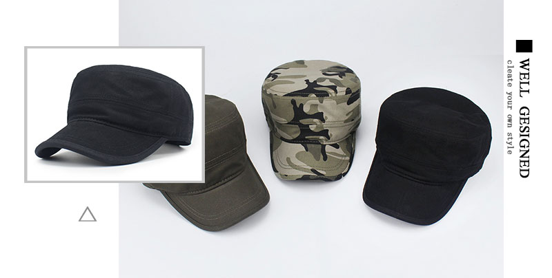 432c64125ea Army camouflage Flat Top Mens Women Caps Hat Adjustable Baseball Cap Casual  Military Hats for Men Snapback Cadet Military Patrol