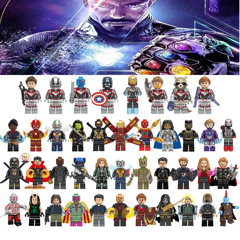 Marvel Avengers 4 Endgame Captain America Iron Man Thanos Hulk Legoelys Building Blocks Figures Toys For Kids