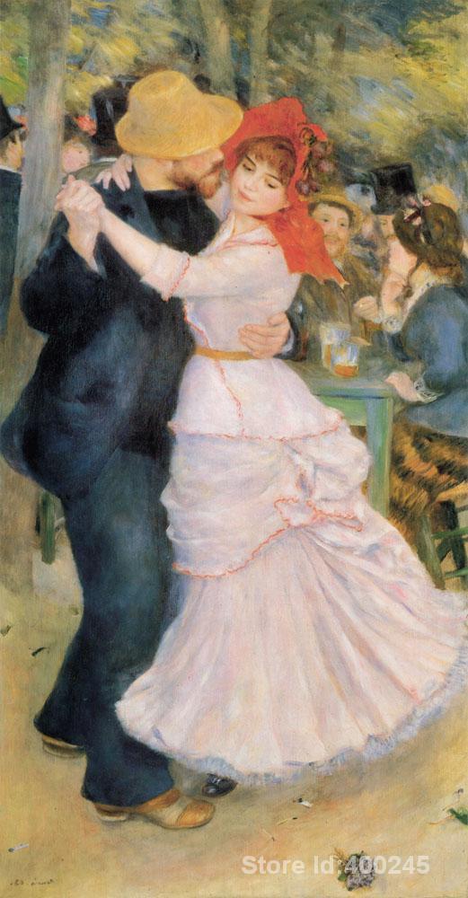 Art peintures à l'huile danse à Bougival Original Pierre Auguste ...