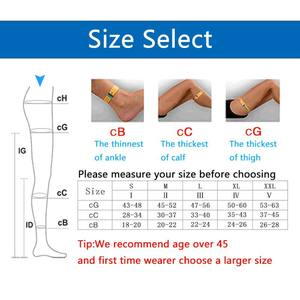 Image 4 - Yienws Medical Compression Stocking Women 25 30 mmHg Varicose Veins Open Toe Stockings Thigh High Compression Pantyhose YiG039