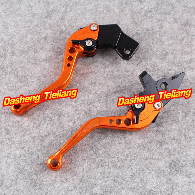 Motorcycle Short Brake Clutch Levers for KTM Duke 200 125 2012 2013, Orange Color