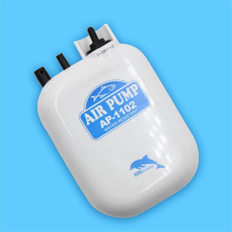 Single Outlet One <font><b>Battery</b></font> Operated Oxygen <font><b>Aerator</b></font> Ultra Silent Aquarium Air Pump Compressor Portable Oxygen Pump 1.5W