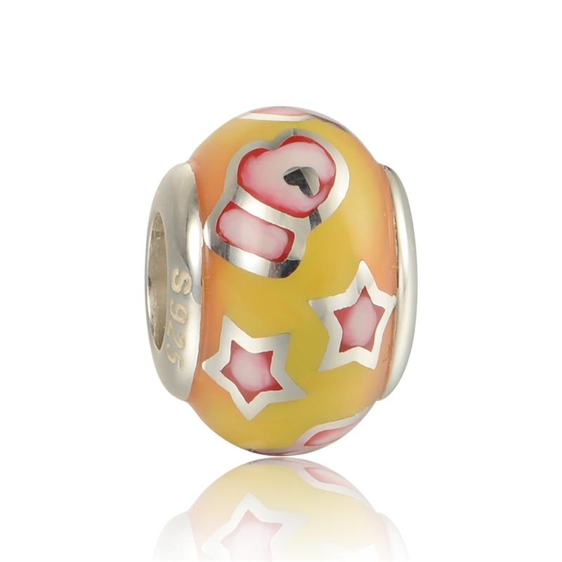 Pandulaso Unique Aimili Enamel Star Round Beads For