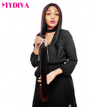 Mydiva Peruvian Virgin Hair Weave 100% Unprocessed Straight Human Hair Bundle 12-24Inch Natural Color Free Shipping
