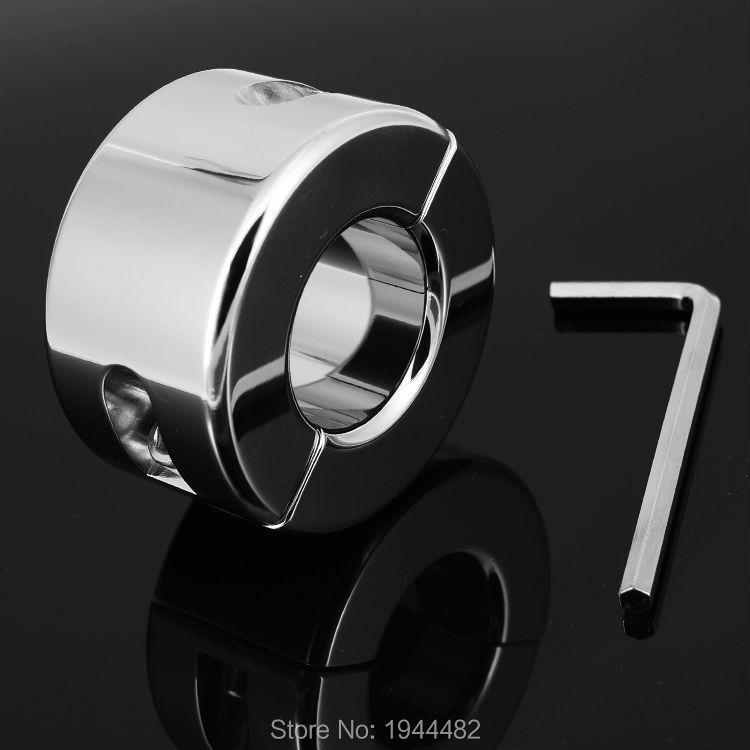 970g poids en acier inoxydable Scrotum anneau en métal verrouillage cockring Ball civières pour hommes Scrotum civière testiculaire retenue