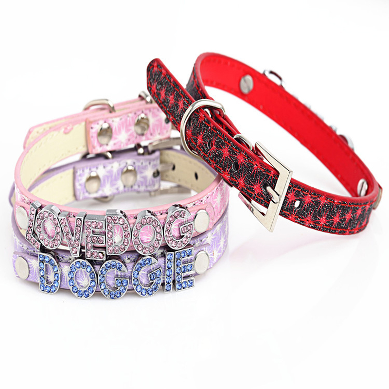 Detail Feedback Questions about NEW Fireworks Pattern PU Leather Bling  Rhinestone Personalized Dog Collar Customized Free Name with Crystal Letters  or ... cbb977cda1b7