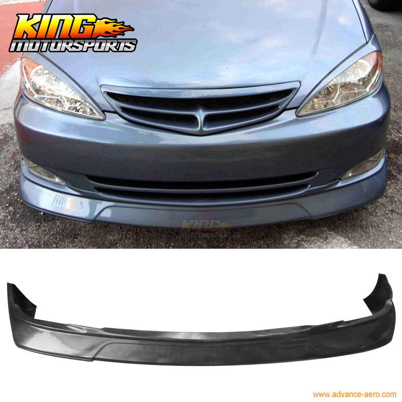 For  02-03 Toyota Camry PU Front Bumper Lip Spoiler Body Kit Vip Style Poly Urethane