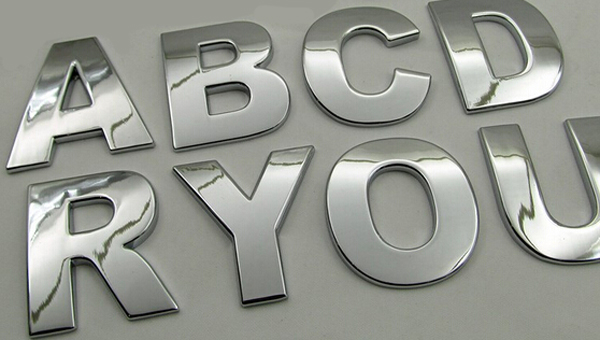 8pcs car styling diy 3d metal sticker auto accessories silver alphabet letter decal spell for chevrolet