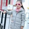 2016 новые девушки пуховики детская одежда дети вниз пальто длинные участки толстый зимний ребенок верхняя одежда парки верхняя одежда