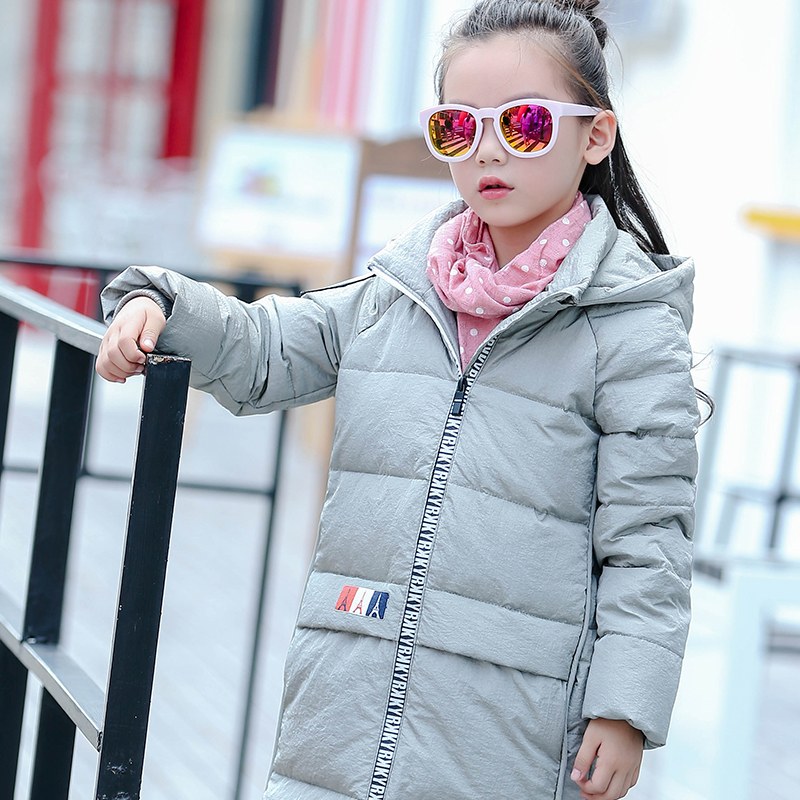 ФОТО 2016 new girls down jackets children's clothing children down coats long sections thick winter baby outerwear parks outerwear
