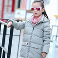 2016 new girls down jackets children's clothing children down coats long sections thick winter baby outerwear parks outerwear