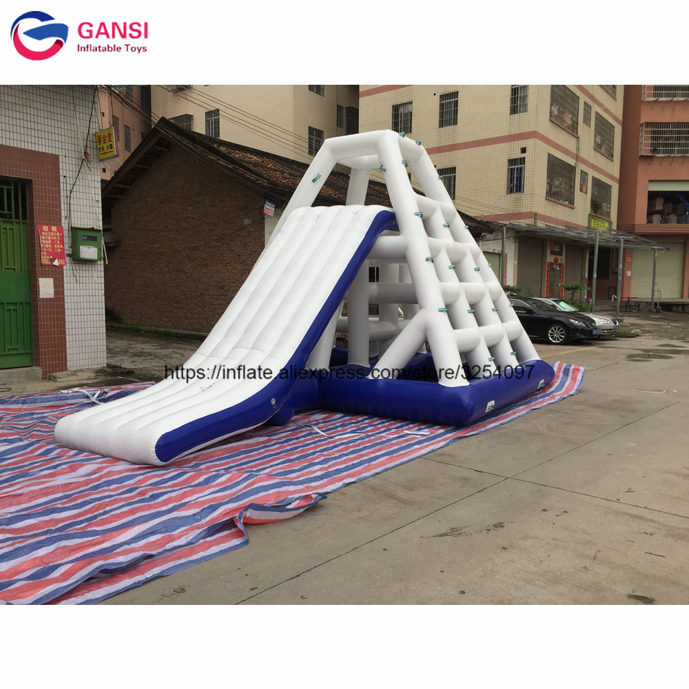 Factory Price 6*4.5*3.6m giant inflatable water park game funnny water slide toys,inflatable water slide clearance for adults factory price giant big inflatable water slide with pool game on sale