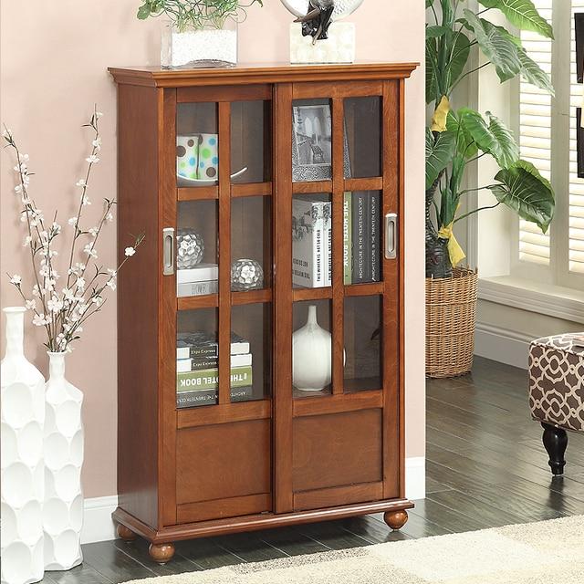 eenvoudige groene leefbare amerikaanse glazen deur boekenkast met ...