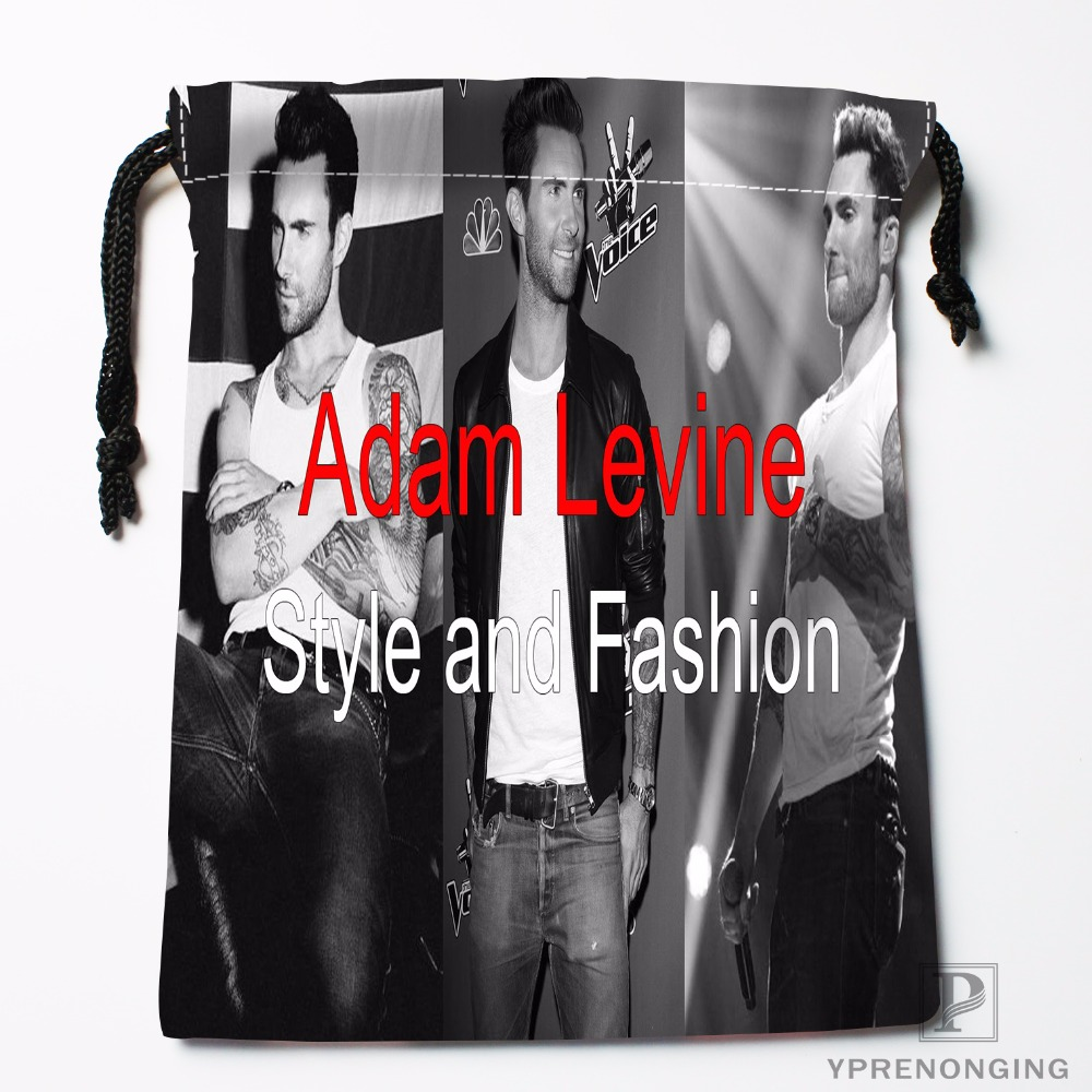 Custom Adam Levine Drawstring Bags Travel Storage Mini Pouch Swim Hiking Toy Bag Size 18x22cm#0412-03-02