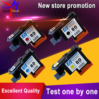 1 Set 4 Colors Remanufactured For HP 80 Printer Head C4820A C4821A C4822A C4823A For HP