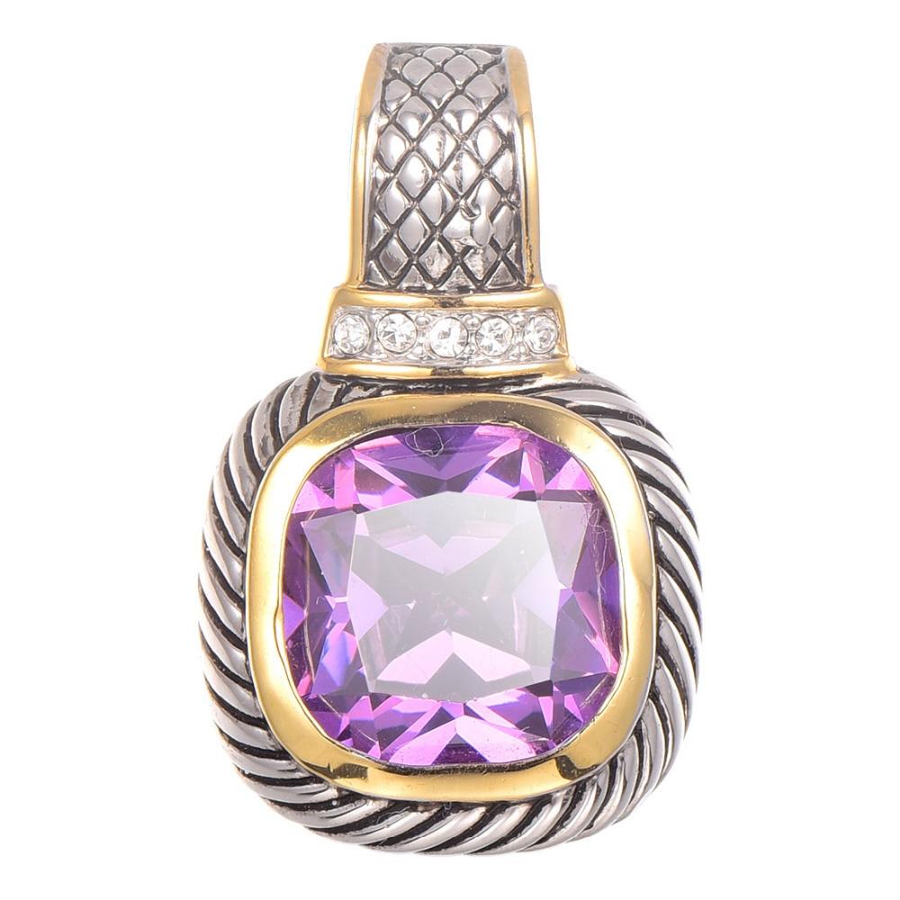 3fd1dab5116a Envío libre púrpura de cristal de circón colgante de plata esterlina 925  hermosa joyería atractiva colgante TE644