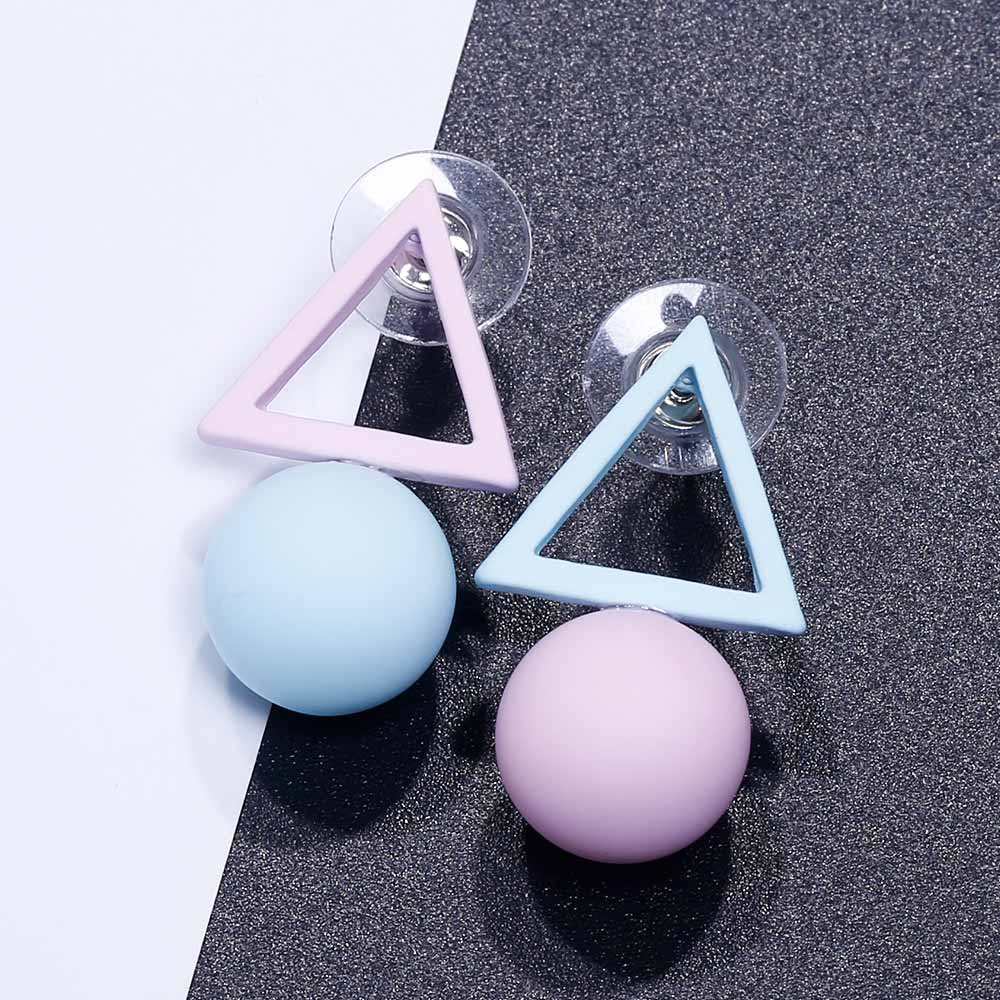 HTB1WfO5QwHqK1RjSZJnq6zNLpXal - FAMSHIN Fashion Triangle Different Candy Color Simulated Pearl Earrings For Women New Trend Earrings Jewelry Party Gift