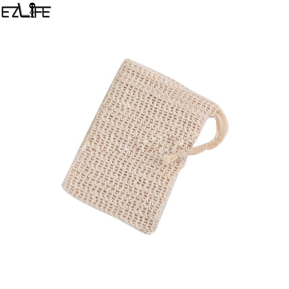 6 Pcs Natural Exfoliating Soap Bags Handmade Sisal Soap Bags Natural Sisal Soap Saver Pouch Holder Bath Soap Holder Bags Bathroom Fixtures