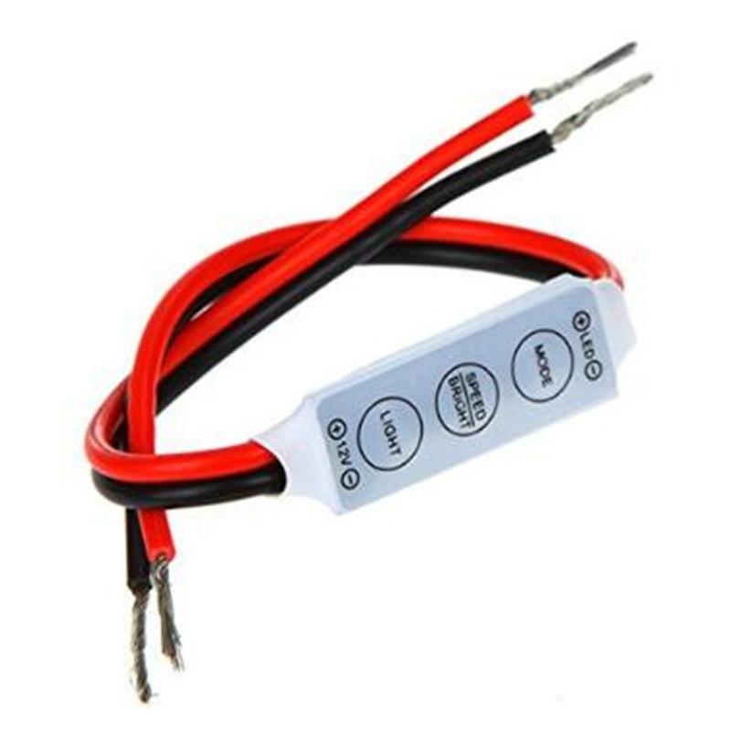 5pcs/lot Mini Led Dimmer Controller DC12V 24V 3 Keys 6A To Control Single Color  SMD 3528 5050 5630 Led Strip Light
