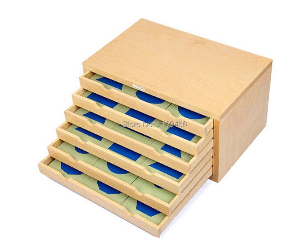 Giocattolo del bambino Geometrica Cabinet Montessori Educazione della Prima Infanzia Prescolare Formazione Giocattoli di Apprendimento Grande Regalo