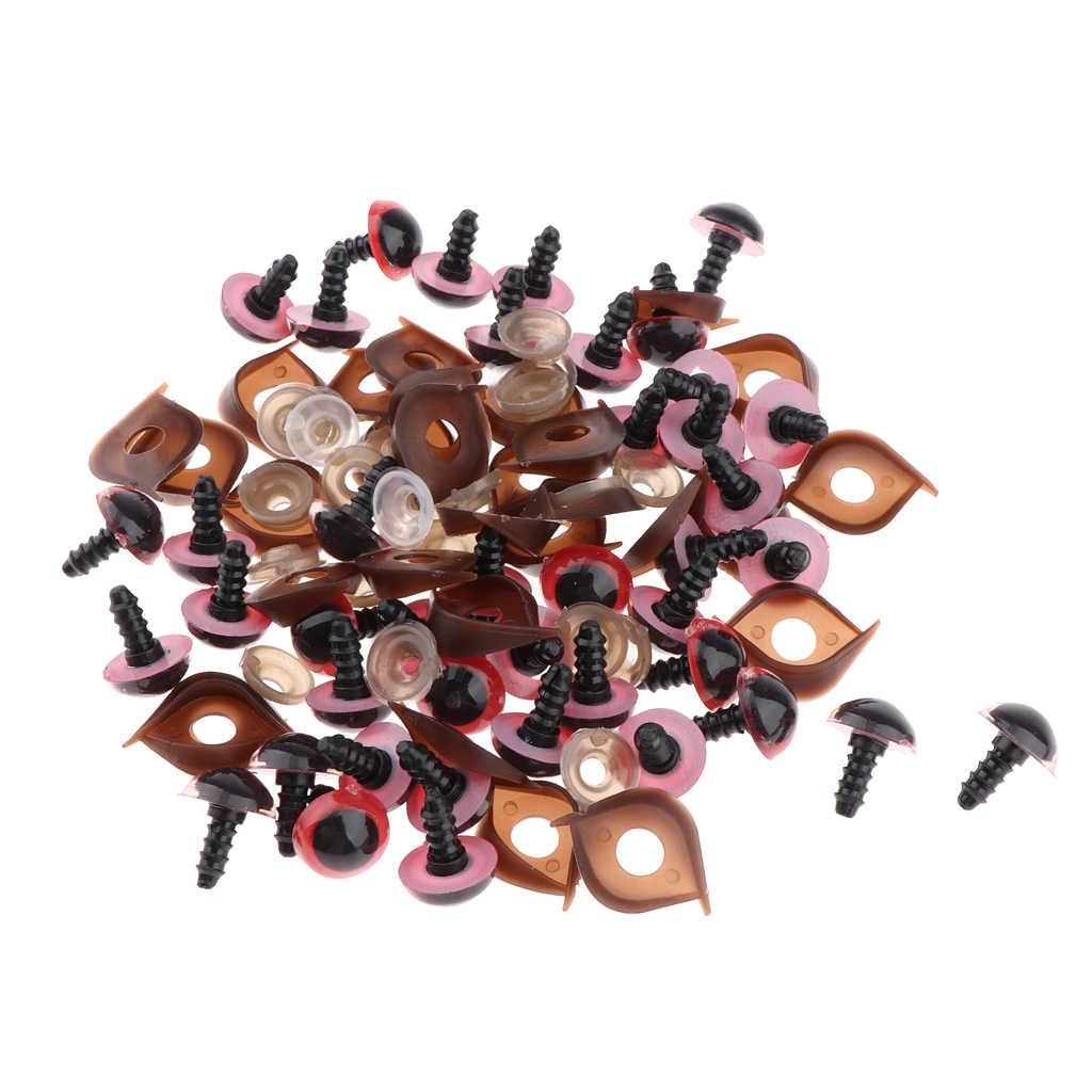 100 штук пластиковые защитные глаза с шайбами век для плюшевого мишки куклы животных кукольная игрушка амигуруми Сделай Сам изготовление шитье ремесло