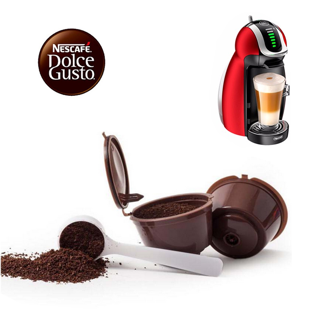 2pcs pack use 180 times refillable dolce gusto coffee. Black Bedroom Furniture Sets. Home Design Ideas
