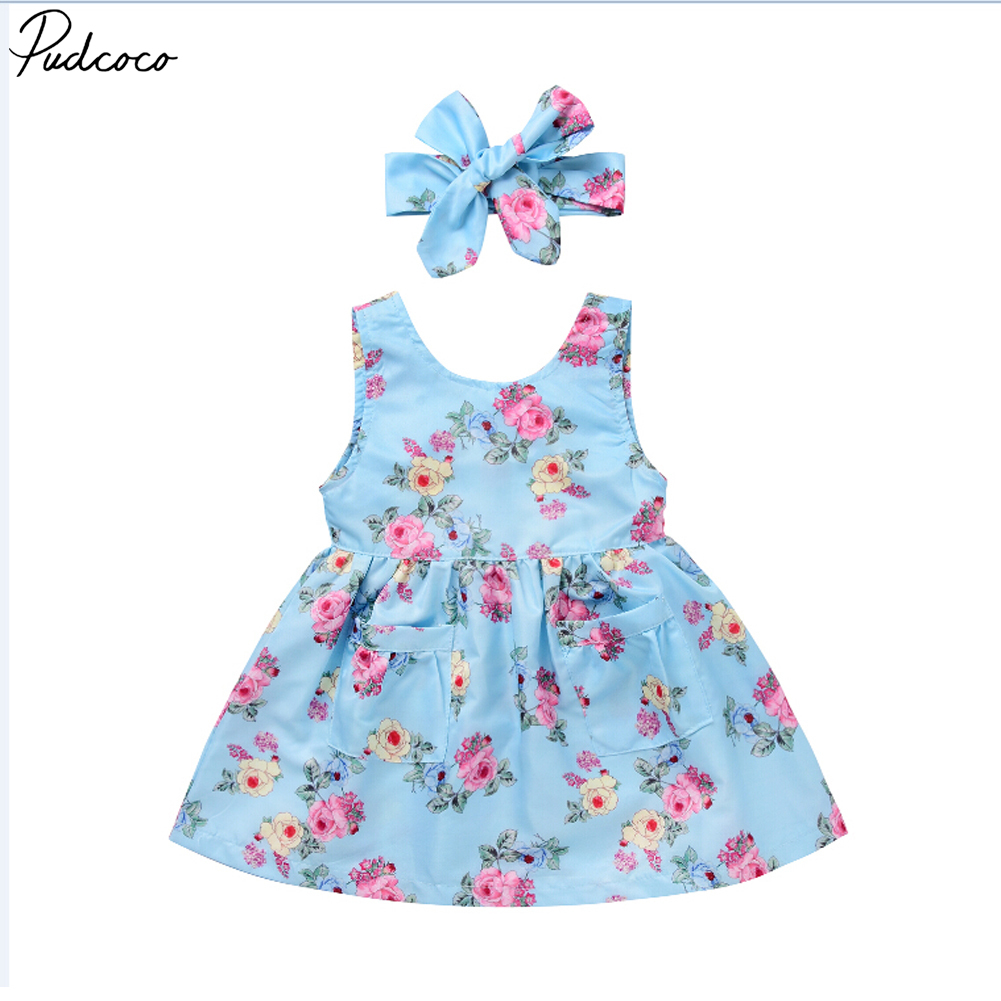Dress Newborn Baby-Girl Princess Wedding-Bridesmaid-Strap Party Floral Cute Vest 0-4