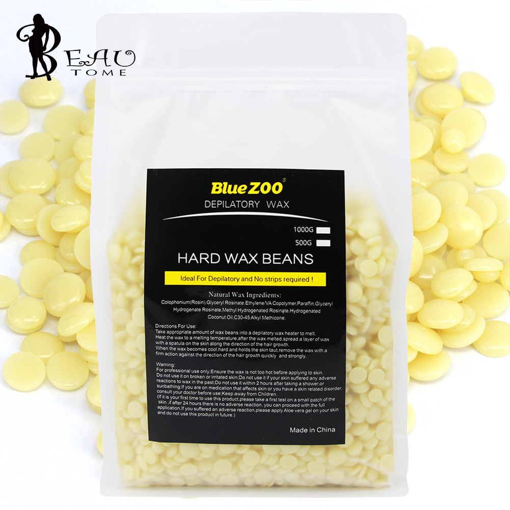 цена 1000g Creamy Flavor Hair Removal Hard Wax Beans Natural Painlessly Cream Depilation No Strip Paraffin Epilation pellet Waxing