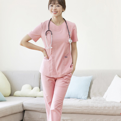 Summer Women Hospital Medical Scrub Clothes Set Dental Clinic And Beauty Salon Nurse UniformFashionable Design Slim Fit Sxq52